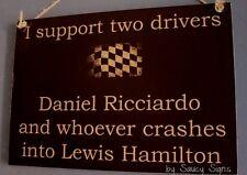 Daniel Ricciardo Wrecks Lewis Hamilton Formula One Grand Prix Racing Sign 1 Car