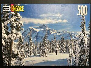 1998 Encore Landmark Mount Shuksan 500 Piece Jigsaw Puzzle NEW Sealed Snow Scene