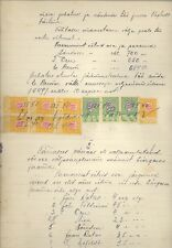 ESTONIA OLD DOCUMENT WITH REVENUE STAMPS 900