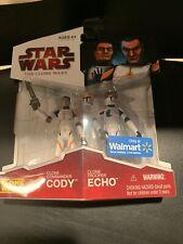 Star Wars Clone Wars Commander Cody & Clone Trooper Echo Walmart Exclusive MOC