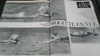 REVUE BRIGITTE BARDOT PARIS MATCH N°695  AOUT 1962 BE
