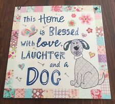 Blessed Dog House Decorative Tin Sign