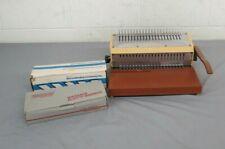Vintage GEBCO General Binding Corporation COMBO Binding Machine Plastic Bindings