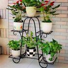 6-Tier Metal Flower Pot Plant Stand Balcony Floor-standing Multilayer Shelf Rack