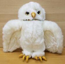 "Harry Potter Hedwig Owl White 12"" Plush Stuffed Toy 2001 Warner Bros"