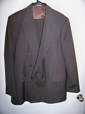 HAGGAR Mens Suit IMPERIAL Double Breasted Gray Striped Size 42 L Men's