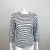 CODEXMODE Nordstrom Tie Back Knit Top Women L Striped 3/4 Sleeve Stretch