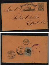 Colombia Fluvial envelope to Germany  1903, great cancels on back        MS0930