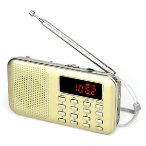 AM / FM Radio MP3 Music Player TF MicroSD Card Media Portable Speaker