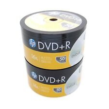 100 HP 16x Blank DVD+R DVD Plus R Recordable Disc Media 4.7GB