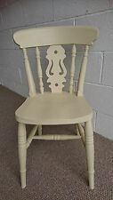 Painted Solid Wood Fiddle Back Farmhouse Country Style Kitchen Dining Chairs