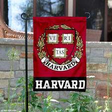Harvard Crimson Coat of Arms Garden Flag and Yard Banner