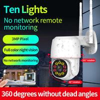 1080P WIFI IP Camera Wireless Outdoor CCTV HD PTZ Smart Security IR Cam UK Plug