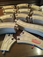 Wooden Thomas and Friends - Bulk Assorted Tracks 56 pieces in total - Used