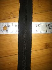 #5 Nylon Coil Zipper Tape Black By The Yard