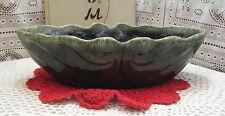 Vintage Hull USA F77 Dark Green Drip Glaze Pottery Planter 1960s