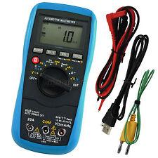 Electronic Automotive MultiMeter Auto Range AC/DC Voltage Dwell Angle Tester