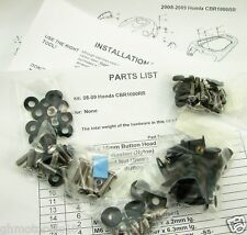 08 09 10 11 CBR1000RR 1000RR COMPLETE FAIRING BOLTS FASTENERS SCREWS KIT USA