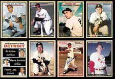 Set of 8 MVPs of '53 with Berra Hodges Kaline Mathews Lopat Haddix Thomas Rosen