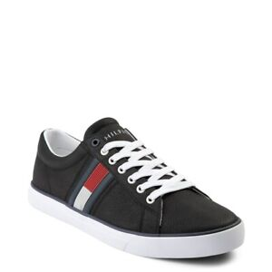 Brand NEW Mens Tommy Hilfiger Revel Shoe Flag Black Sneakers