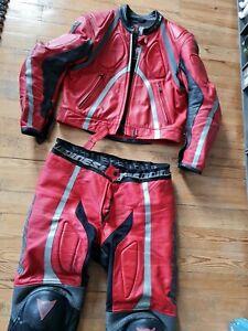 DAINESE T-Age Rot Schwarz Silber Gr. 56 2-teilig