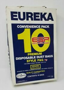 Eureka 9 Pack In Box Part Number 52356 New Premium Disposable Dust Bags F&G