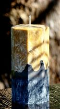 200hr BERGAMOT & BLACK TEA Salted Citrus Scented ARTISTIC CANDLE - Hexagon Shape