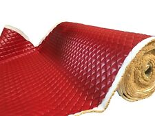 RED PVC Quilted Upholstery Vinyl Fabric with 3/8