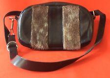 GAMET SAC À MAIN 1950 Cuir Et Fourrure /Gamet vintage leather & fur handbag