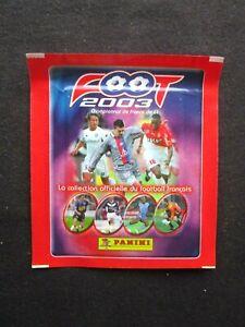 POCHETTE PACK FOOT 2003  PANINI FOOTBALL CHAMPIONNAT DE FRANCE RARE