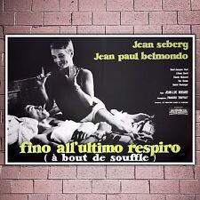 Poster Film Fino All'Ultimo Respiro- Francois Truffaut - Size: 100x70 CM
