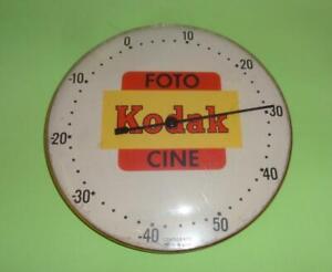 VTG KODAK FOTO CINE PHOTOGRAPHY CENTIGRADE TRAY THERMOMETER METAL USA 1960's
