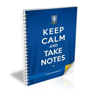 Sheffield Wednesday F.C - Personalised Notebook (KEEP CALM)