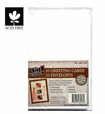 50 Pack Blank Greeting Cards & Envelopes 5x7 A7 White Acid Free Mailing Cards