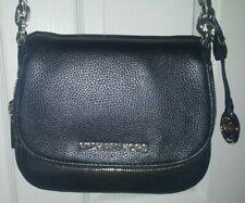 MICHAEL KORS BEDFORD 35F9GBFC1L Genuine Leather Black SM Flap X-body Bag NWT