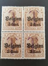 German Empire Germania Postage due overprints German  Occupation Belgium stamps