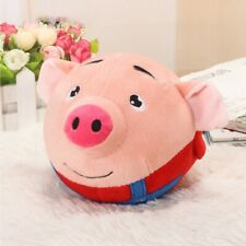 Plush Pig Jumping Piggy Ball Soft Baby Toy Toy with 70 Songs Recordable Red