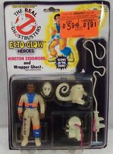 The Real Ghostbusters Ecto Glow Heroes Winston Zeddmore & Wrapper Ghost Kenner
