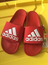 Adidas Red Sandals Mens  - F34725 adilette comfort slides SIZE 9