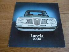 LANCIA 2000 (BERLINA) BROCHURE AUTO JM
