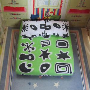 Bozart Kaleidoscope Dollhouse GREEN 50s Style BED MATTRESS Bedroom Furniture