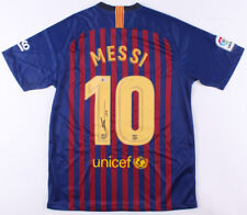 Barcelona Lionel Messi Signed Autographed Soccer Jersey Leo - Beckett BAS COA