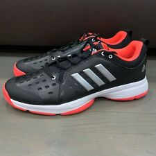 New Adidas Classic Barricade Bounce Black Tennis Shoes AH2096 Men's Size 13.5
