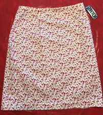Vintage CLIO Skirt Stretch Floral A-Line Women's Size 8 MADE IN USA NEW
