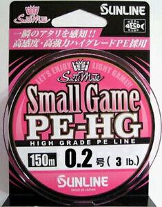 Sunline Small Game PE-HG 150m No. 0.2 3LB Domestic PE Line