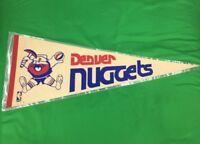 VTG 70'S Denver Nuggets NBA ABA Pennat Big Spell Out Logo's Bright Colors Rare