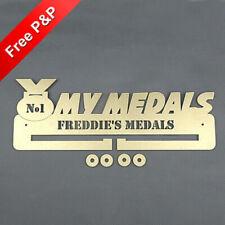 My Medals Medal Holder / Hanger / Rack Personalised - 6mm MDF Wooden Craft #1