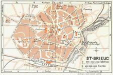 BRITTANY. Bretagne. St Brieuc 1928 old vintage map plan chart