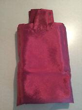 1 Schlaufen-Vorhang / Schlaufen-Schal, bordeaux glänzend