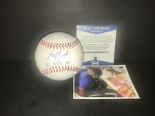 Ed Howard Chicago Cubs Autographed Signed Baseball Beckett WITNESS Go Cubs Go .